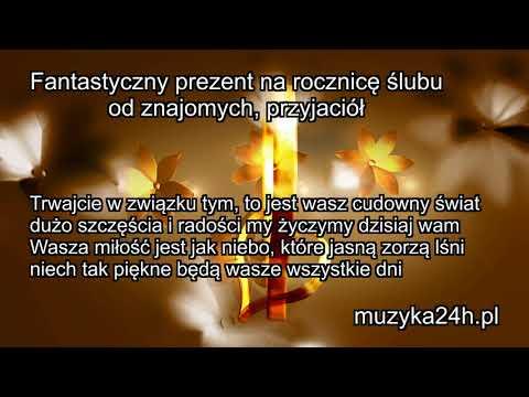 Niezwykły Prezent - Piosenka I życzenia Na Rocznicę ślubu. Od Przyjaciół, Znajomych