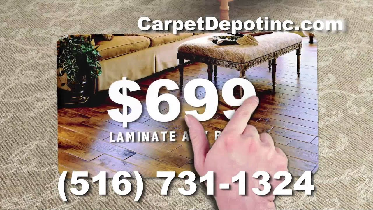 "Carpet Depot ""Three Rooms of Carpet"""