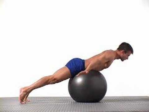 6 Swiss Ball Back Extension