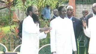Dr Owuor Baptizes Prime minister Of Kenya Pt 3