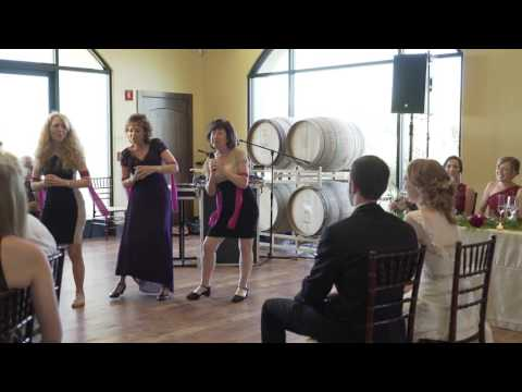 Mother Surprises all at Daughter's Wedding with Super Trouper Routine!