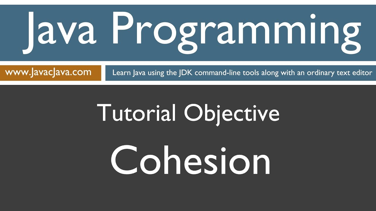 Java programming language tutorial gallery any tutorial examples learn java programming cohesion tutorial youtube baditri gallery baditri Choice Image