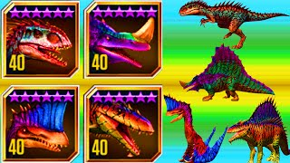 All Hybrid Dinosaurs in Jurassic World The Game (Part 1)