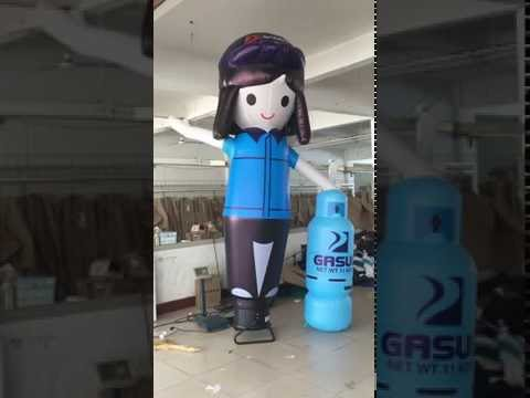 inflatable Gas station worker cartoon dancer air wave  hands