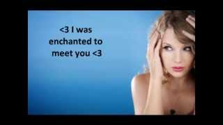 Enchanted Taylor Swift  Lyrics