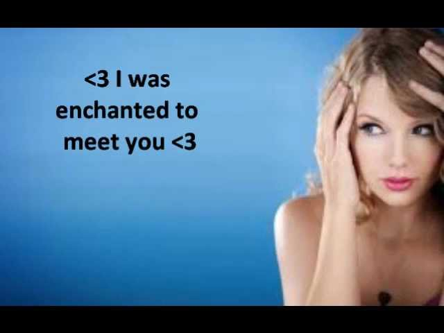 Enchanted Taylor Swift Lyrics Chords Chordify
