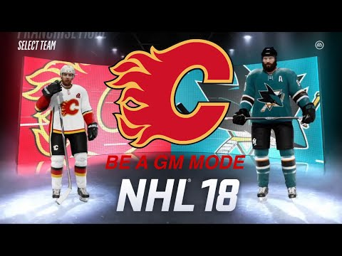 ROUND ONE VS San Jose Sharks (NHL 18 Be a GM)