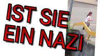 NAZI FRAU SCHREIT LEUTE AN!