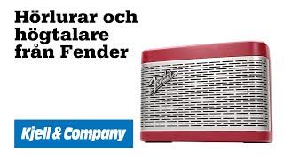 Unboxing med Kjell - Högtalare och hörlurar från Fender