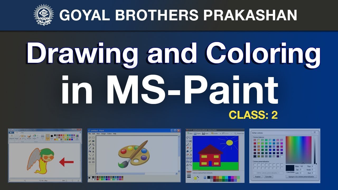 medium resolution of Drawing and Coloring in MS-Paint (Computer Book 2) - YouTube