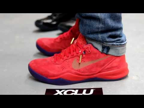 030b3962125f Nike Kobe 8 EXT Year of the Sneak Red Suede On-feet at Exclucity