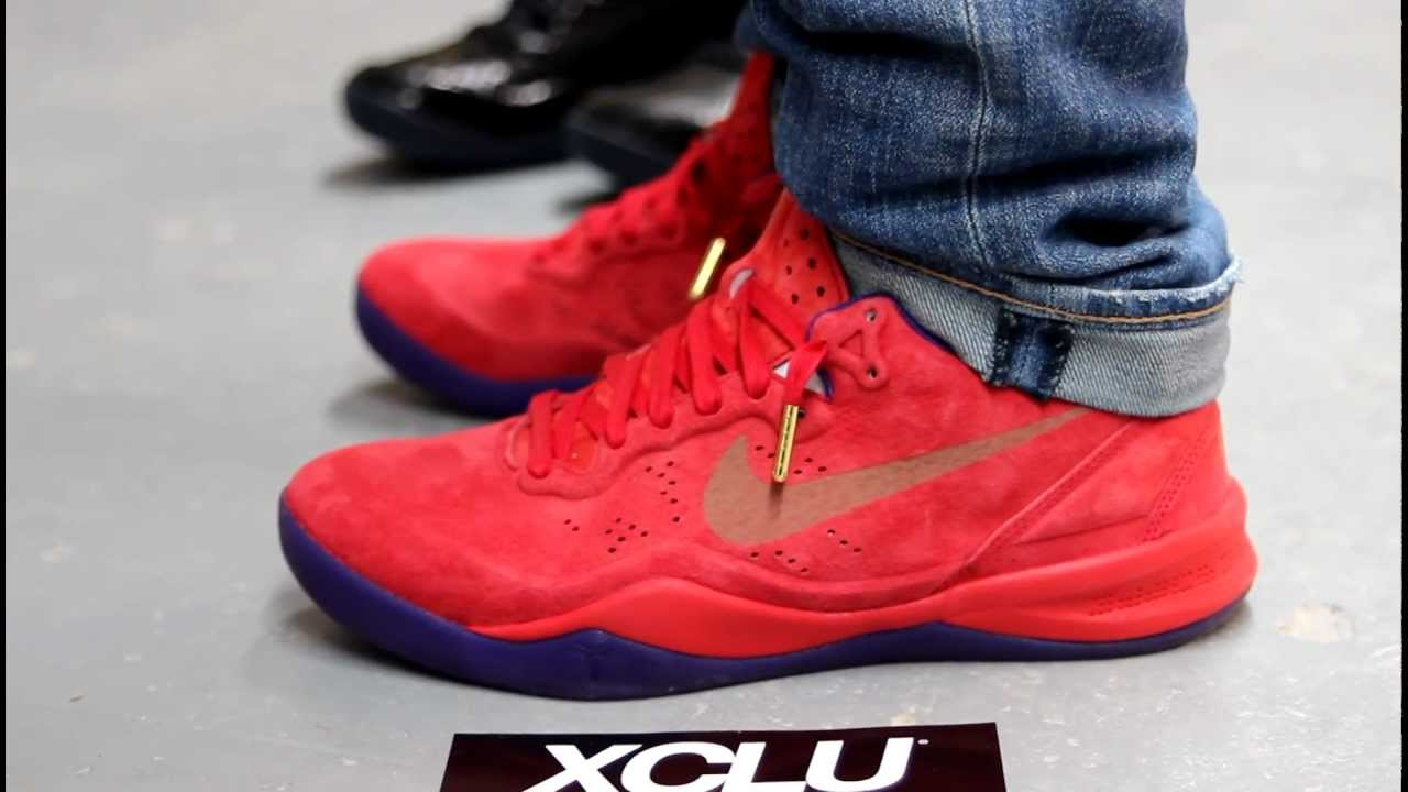 17fd959f6f64 Nike Kobe 8 EXT Year of the Sneak Red Suede On-feet at Exclucity - YouTube