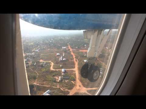 Air Tanzania Dash 8 landing at Kigoma airport