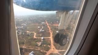 Air Tanzania Dash 8 landing at Kigoma airport