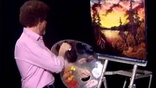 Bob Ross - Malerei roten Sonnenuntergang - Malerei Video