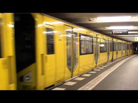 Berlin Metro train leaving - U-Bahn