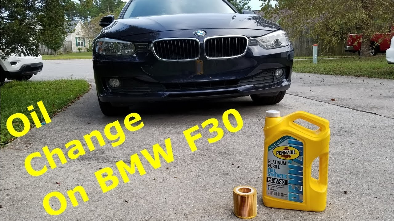 BMW F30 Oil Change (oil service reset)