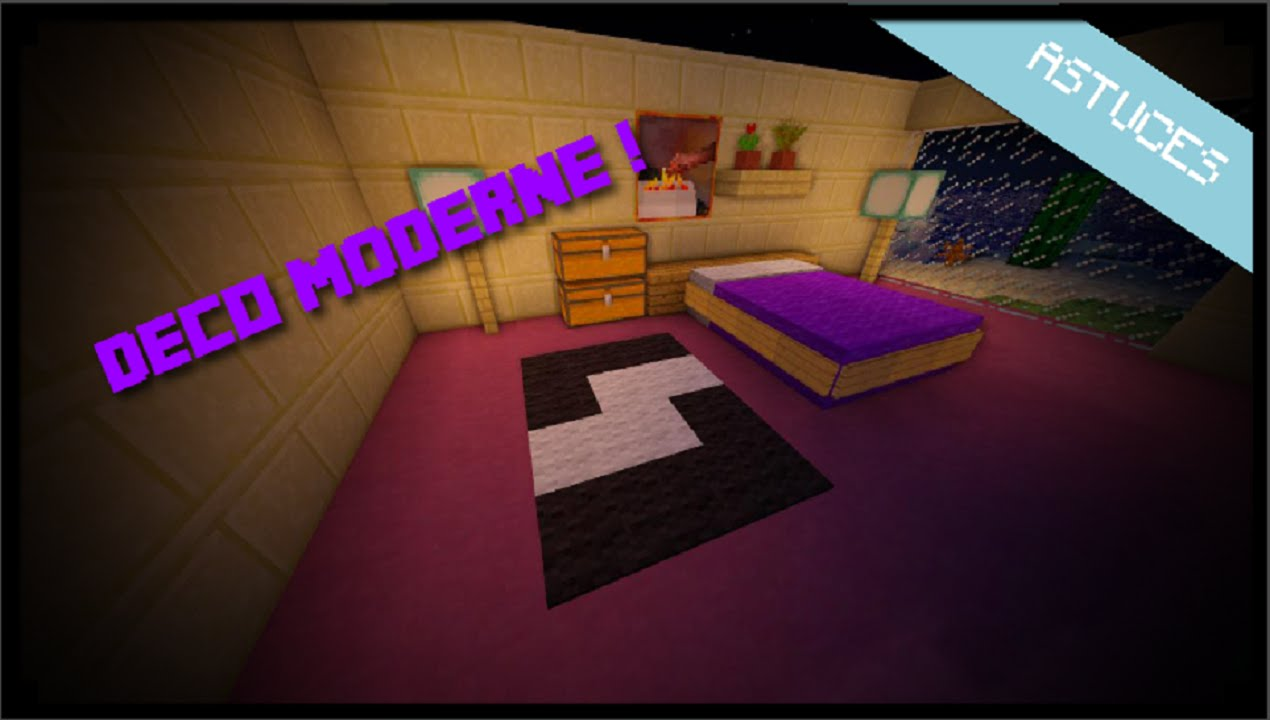 Minecraft comment faire une chambre moderne youtube for Deco maison moderne youtube