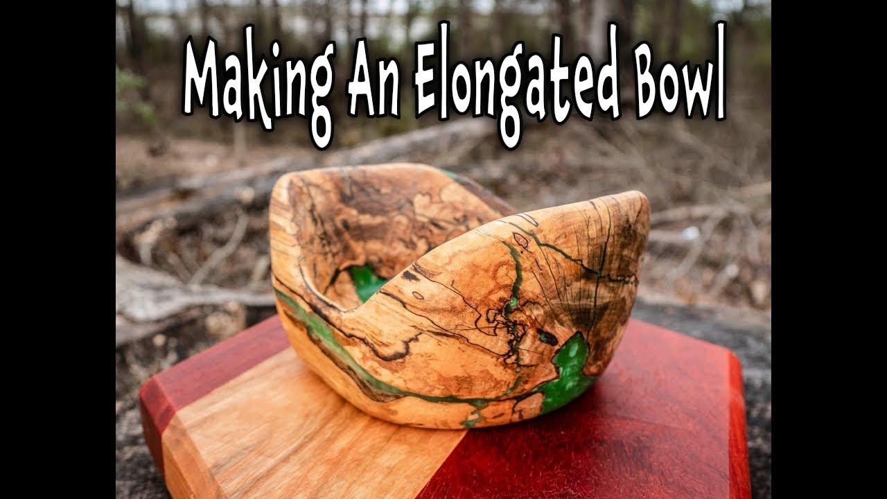 Making a Elongated Wood Epoxy Bowl (4k)