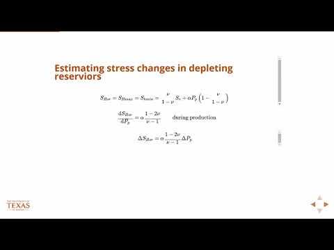 Estimating stress changes from depletion, Petroleum Reservoir Engineering, Geology