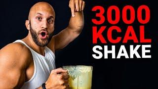 Der 3000 Kalorien Masseshake für mehr Muskeln!