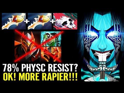 X2 Divine [Phantom Assassin] Counter 78% Resist Dragon Knight - Dota 2 Gameplay