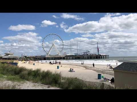 Boardwalk And Beach View In Atlantic City