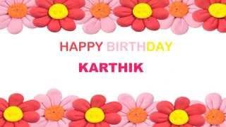 Karthik   Birthday Postcards & Postales - Happy Birthday