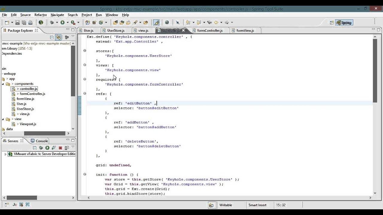 ExtJS Single Page Application Tutorial - Part 3, Grid Controller