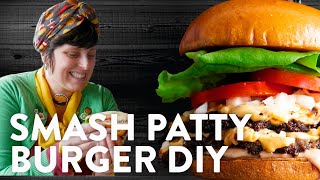 Sarah Beth Makes Classic Smash Patty Diner Burgers   Cook School   Urban Accents