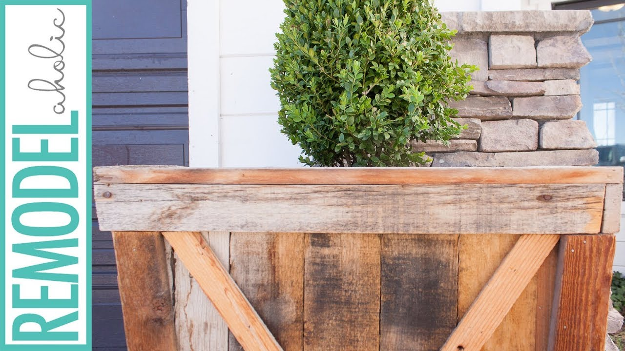 Build A Large Wood Planter From Pallet Wood Youtube