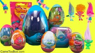 Dreamworks Trolls Easter Plastic Eggs Surprises Chocolate Egg Tin Poppy Dog Tags Bulls I Toy Fun