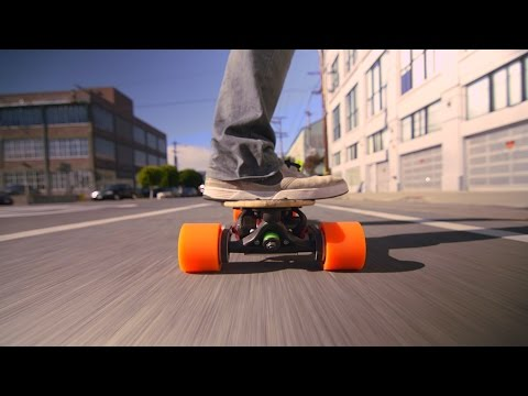 new 20mph electric longboard designed by Stanford PHD engineers. 2Kw motors, 15% uphill capable