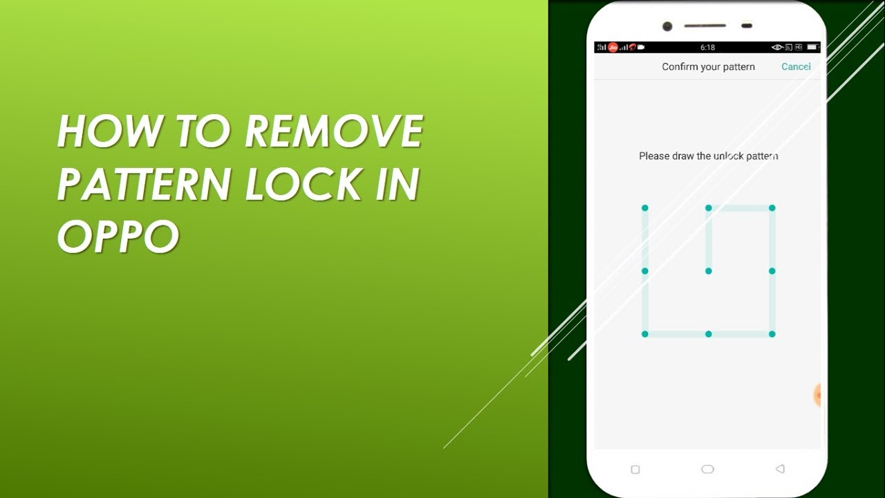 How to Disable Pattern Lock in OPPO - YouTube
