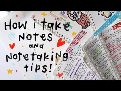 Note-taking tips and How I write my notes!