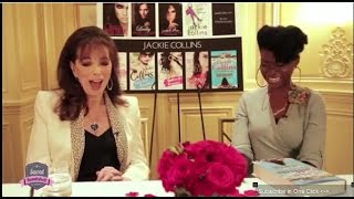 Jackie Collins Talks Powerful Women and The Santangelos with Abiola Abrams
