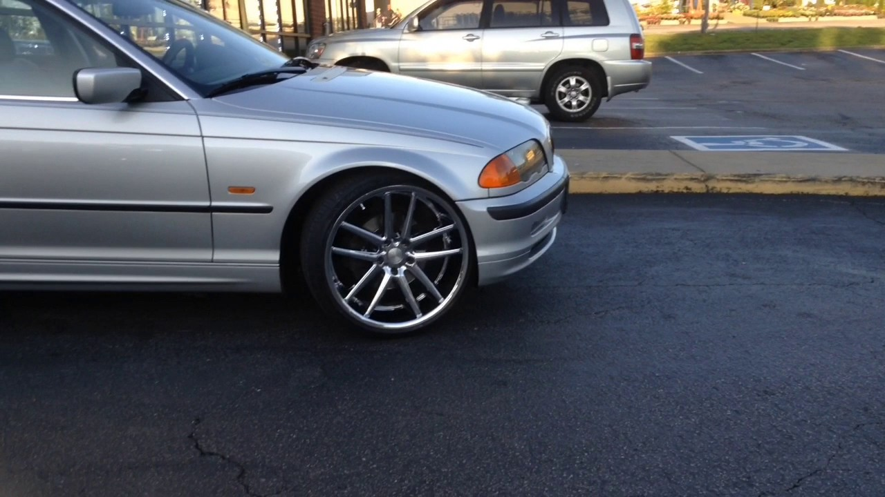 2001 Bmw 325i Sitting On 20 Quot Cavallo Clv 4 Chrome Wheels