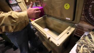 guns and gear outside, food and drinks inside :Orca Coolers 100% made in America