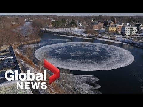 Floating 'ice disk' in Maine draws comparisons to flying saucer