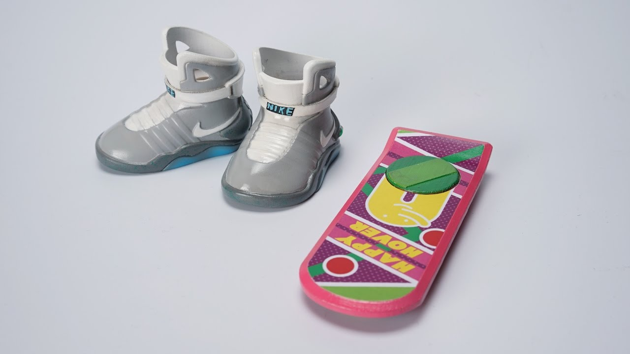Back to the future Nike Sneakers & HOVER BOARD made by ATOM 3D printer