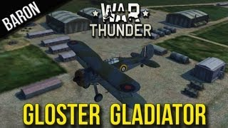 War Thunder Gameplay:  Gloster Gladiator Squad