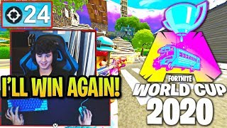 BUGHA REACTS TO WORLD CUP 2 & PROVES HE WILL WIN AGAIN! (Fortnite)