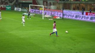 Lukas Podolski選手のこの日2点目。大森からのボールに綺麗に合わせた...