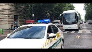 Kéklámpás busz + katonai rendészet, Budapest