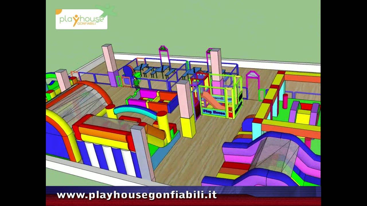 Giochi gonfiabili progettazione 3d per arredamento for Arredo ludoteche
