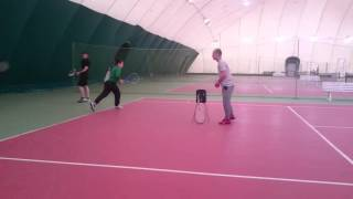 Теннис на фок серебрянке. Тренировки