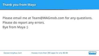Learn English Vocabulary by Maya - Gambol