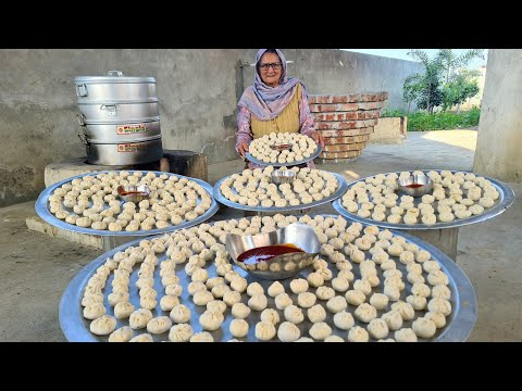 Veg Momos Recipe By My Granny | Street Food | Momos Recipe | Asmr | Village Food | Indian Recipes
