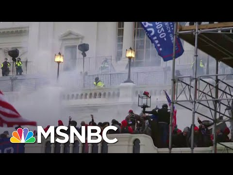 Flash Grenades, Tear Gas Deployed On Exterior Capitol Balcony | MSNBC