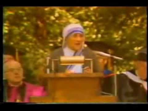 Mother Teresa - Address and Press Conference @ Thomas Aquinas College